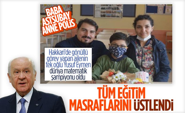 Devlet Bahçeli, matematik şampiyonu Yusuf Eymen'i tebrik etti