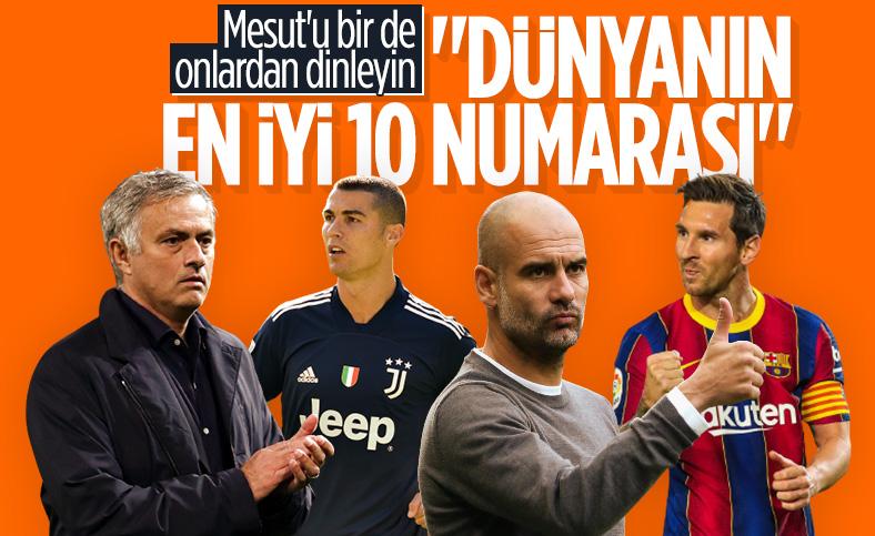 Guardiola, Mourinho, Messi ve Ronaldo'nun Mesut Özil yorumu