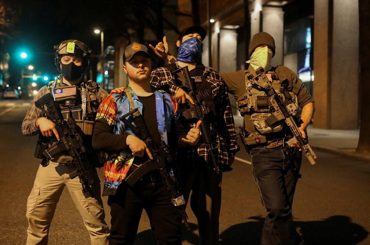 ABD'de silahlı gruplar, Lobi Günü için sokaklara indi #2