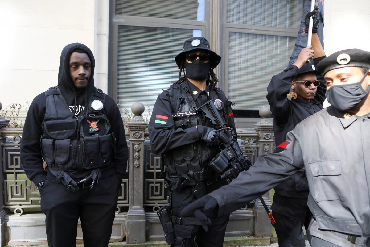 ABD'de silahlı gruplar, Lobi Günü için sokaklara indi #8