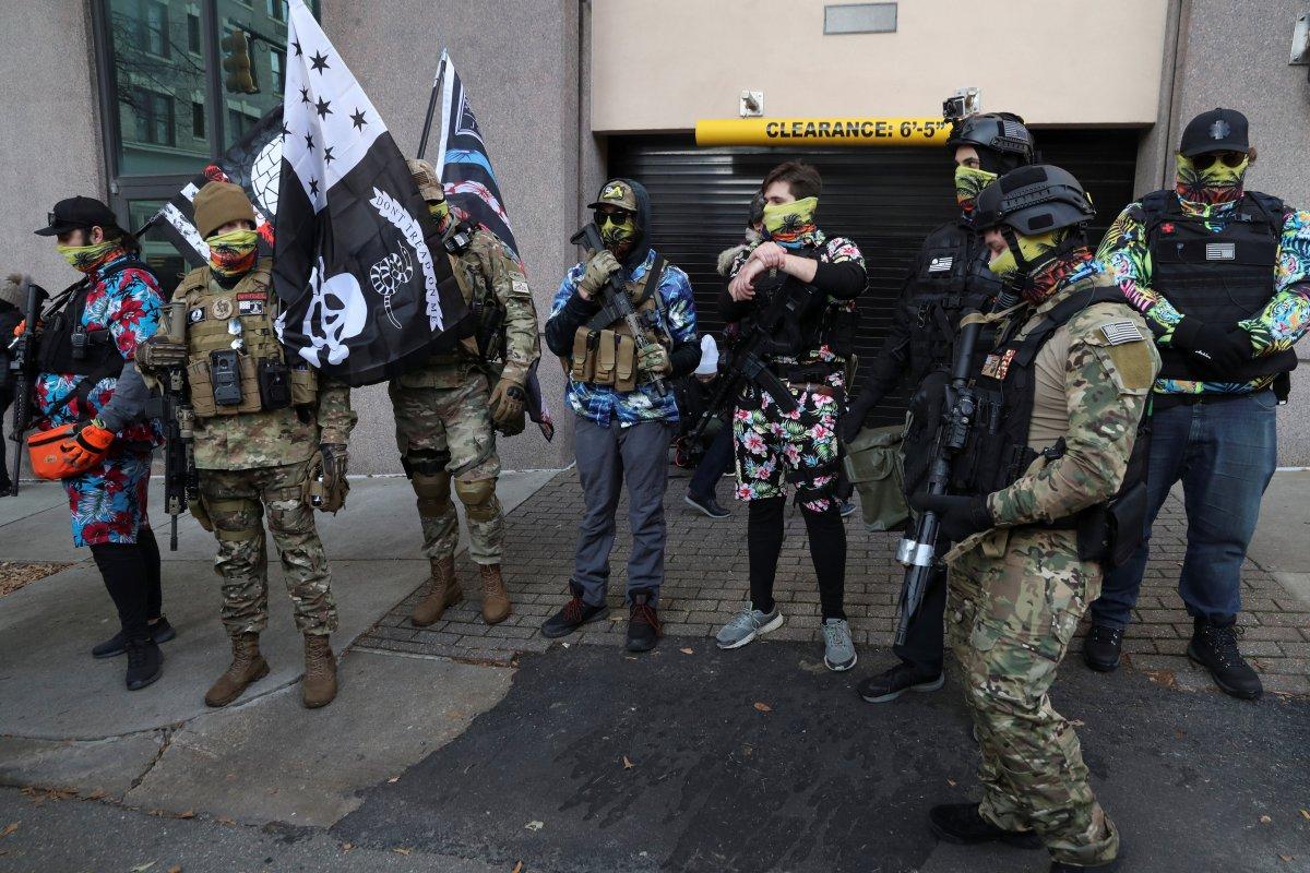 ABD'de silahlı gruplar, Lobi Günü için sokaklara indi #3