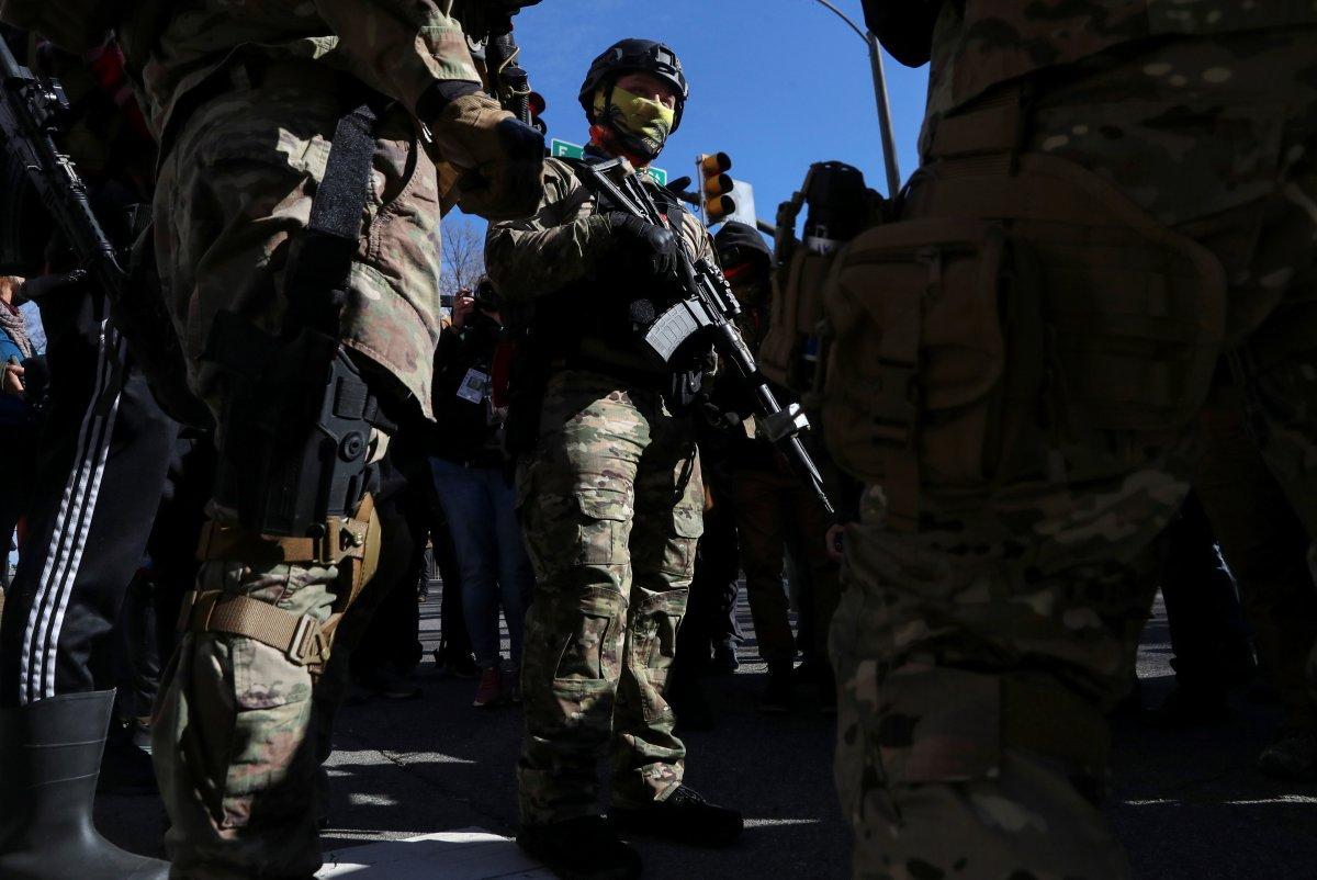 ABD'de silahlı gruplar, Lobi Günü için sokaklara indi #9