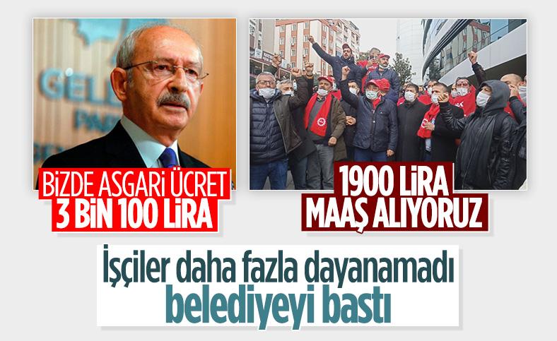 CHP'li Kartal Belediyesi işçilerinden 'toplu iş sözleşmesi' eylemi