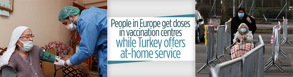 Coronavirus vaccination: Turkey provides people at-home service