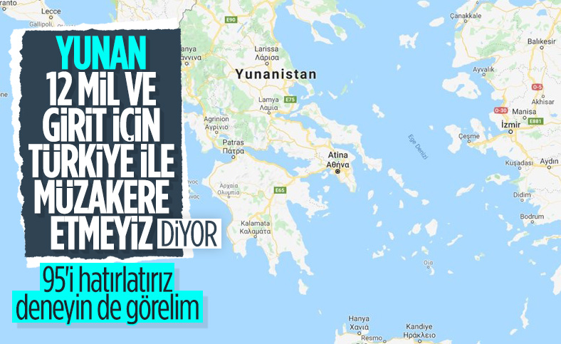 Yunanistan'dan kara suları için müzakere açıklaması