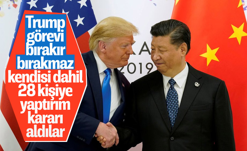 Çin'den Trump ve Pompeo dahil 28 ABD'liye yaptırım kararı