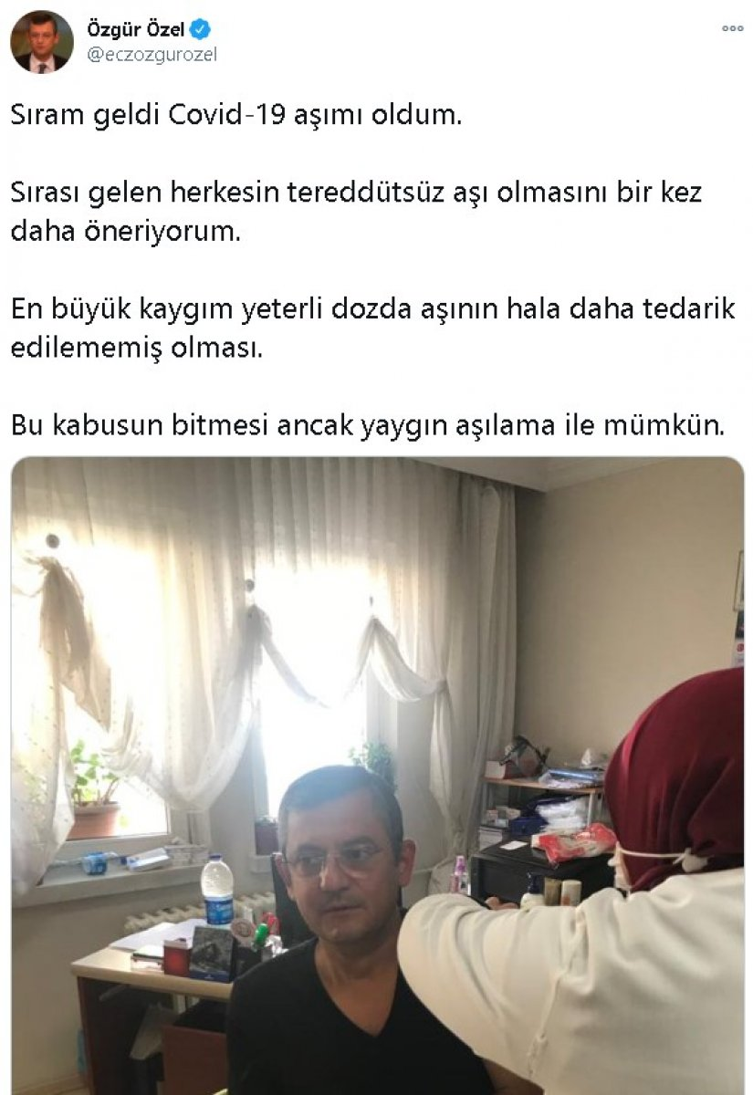 CHP li Engin Özkoç  aşı nerede  diye sorarken Özgür Özel, koronavirüs aşısı oldu #2