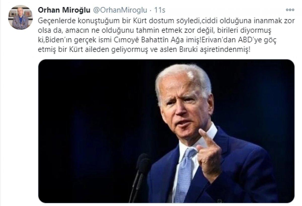 Joe Biden ın, Kürt olduğu iddia edildi #1