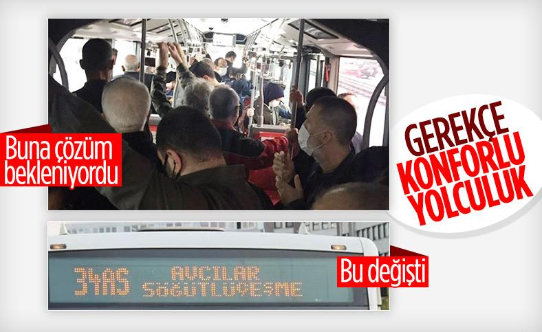 İBB otobüslerin tabelasındaki kodları kaldırıyor