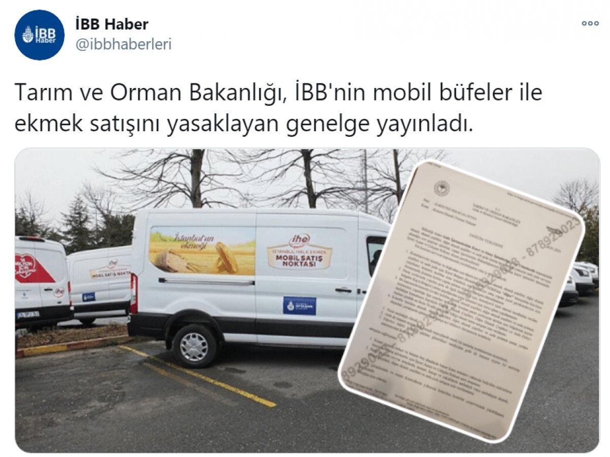 Tarım ve Orman Bakanlığı,  İBB nin mobil büfelerinin yasaklandığı  haberini yalanladı #4