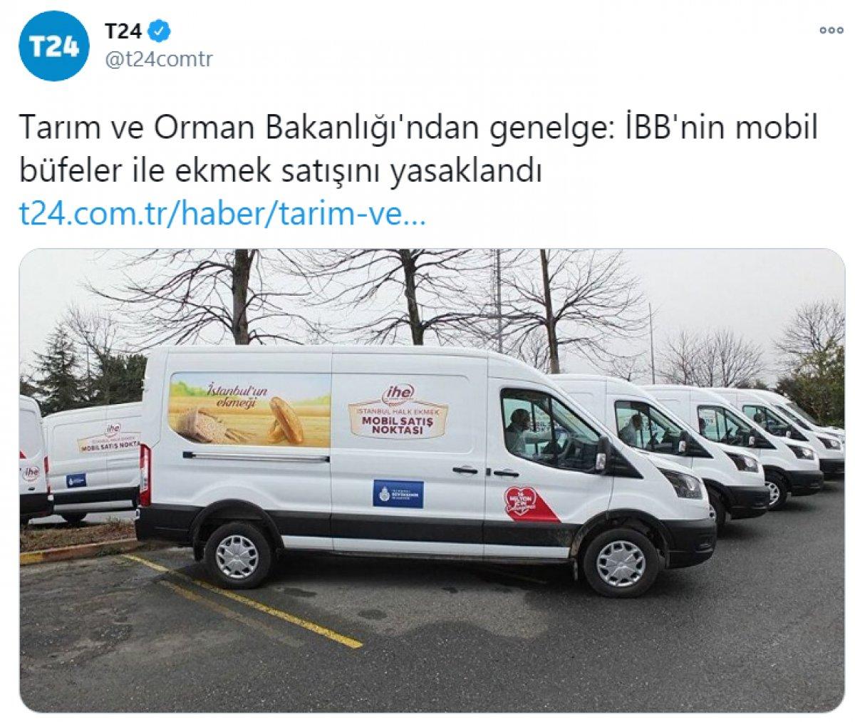 Tarım ve Orman Bakanlığı,  İBB nin mobil büfelerinin yasaklandığı  haberini yalanladı #2