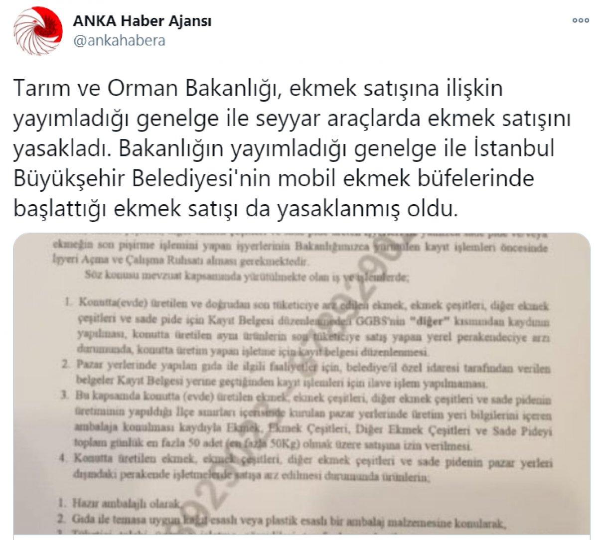 Tarım ve Orman Bakanlığı,  İBB nin mobil büfelerinin yasaklandığı  haberini yalanladı #3