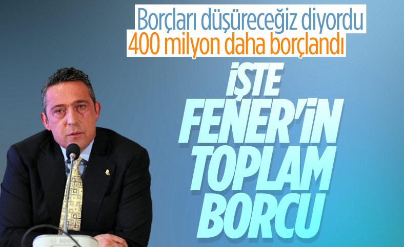 Fenerbahçe'nin toplam borcu 4 milyar 719 milyon lira