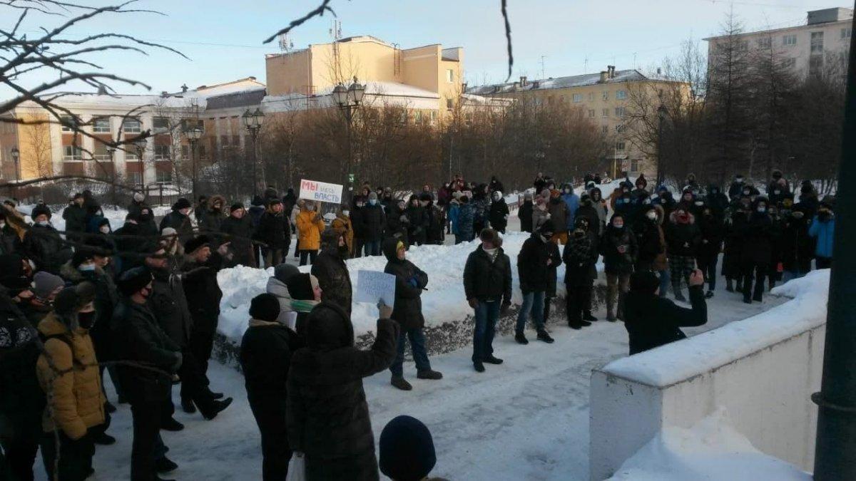 Rusya nın doğu kentlerinde 'Aleksey Navalnıy' protestoları başladı #13