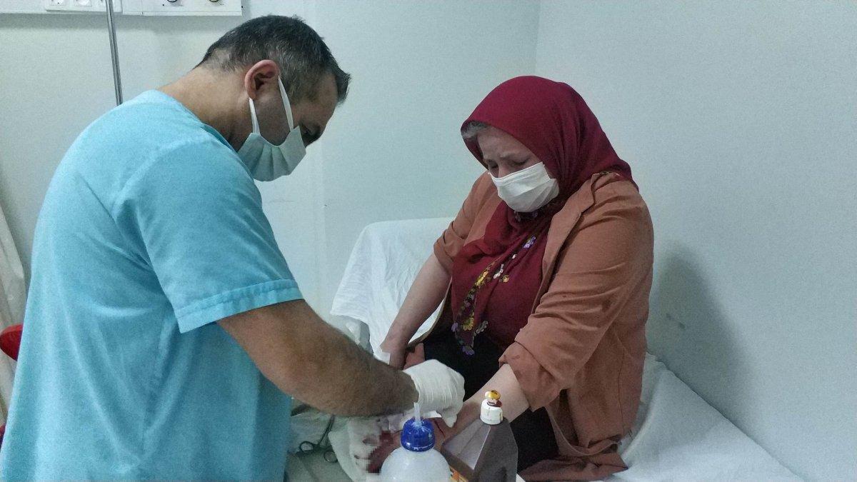 Samsun da komşuların kavgasında 5 kişi hastanelik oldu #1
