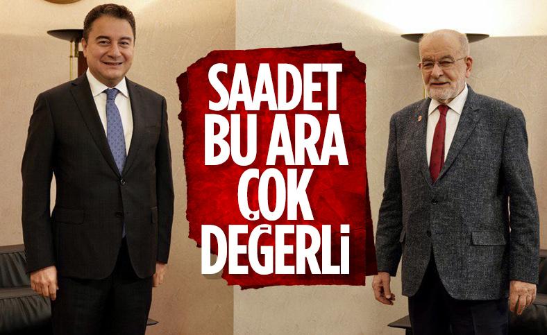 Ali Babacan'dan Temel Karamollaoğlu'na ziyaret