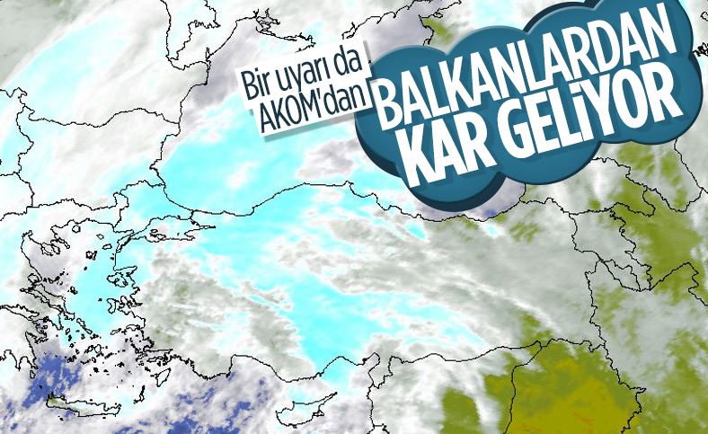 AKOM uyardı: Kar İstanbul'a geri dönüyor