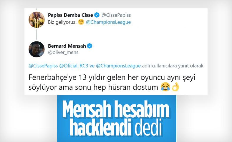 Bernard Mensah: Cisse'ye o mesajı ben atmadım