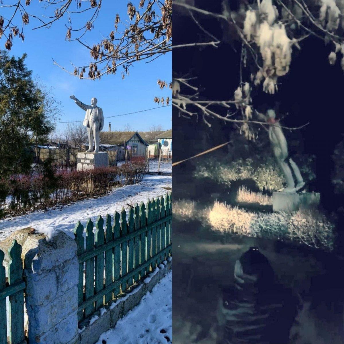 Ukrayna da Lenin heykeli kalmadı #1