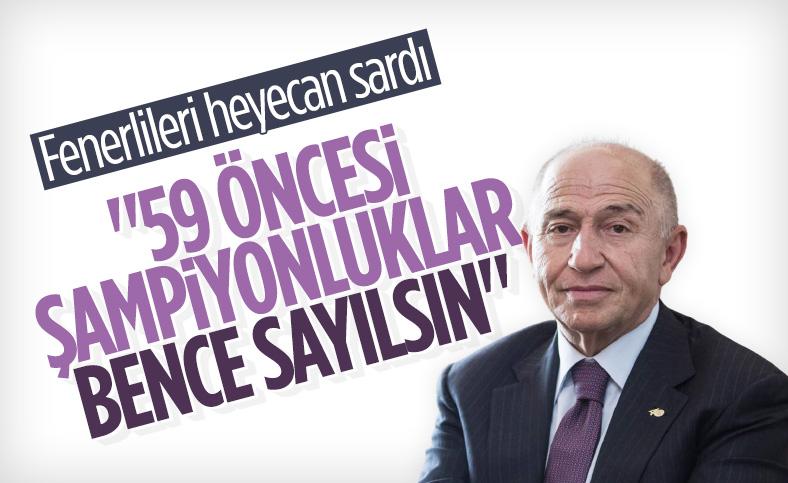 Nihat Özdemir, sayılmayan şampiyonluklar hakkında konuştu