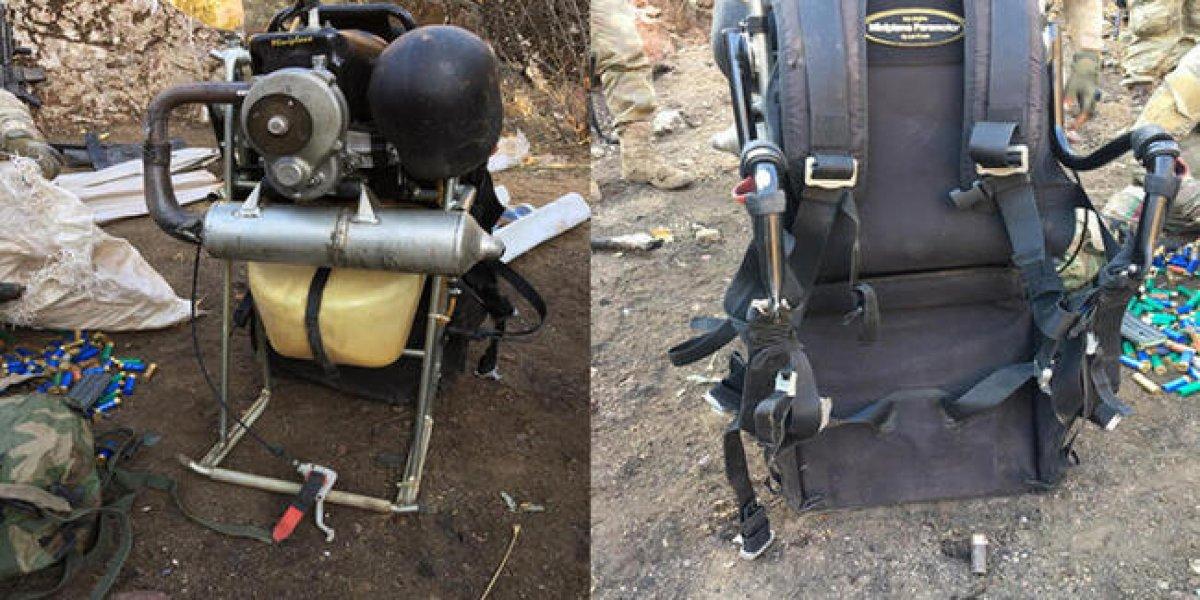 Paramotorla PKK ya bomba taşıyan terörist havada vuruldu #3