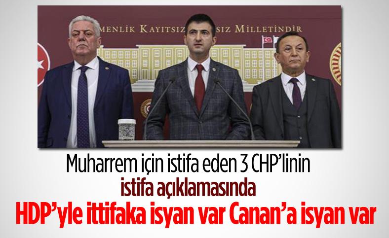 3 milletvekilinin istifasına ilişkin açıklamaları