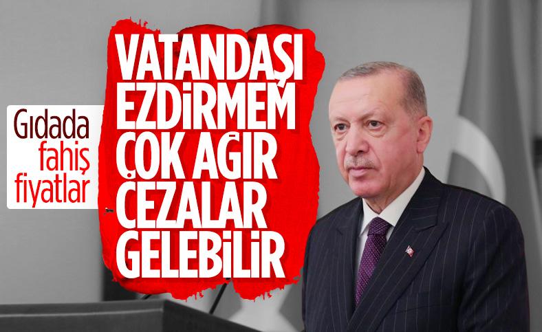 Cumhurbaşkanı Erdoğan: Gıda fiyat artışını kontrollü yürüteceğiz