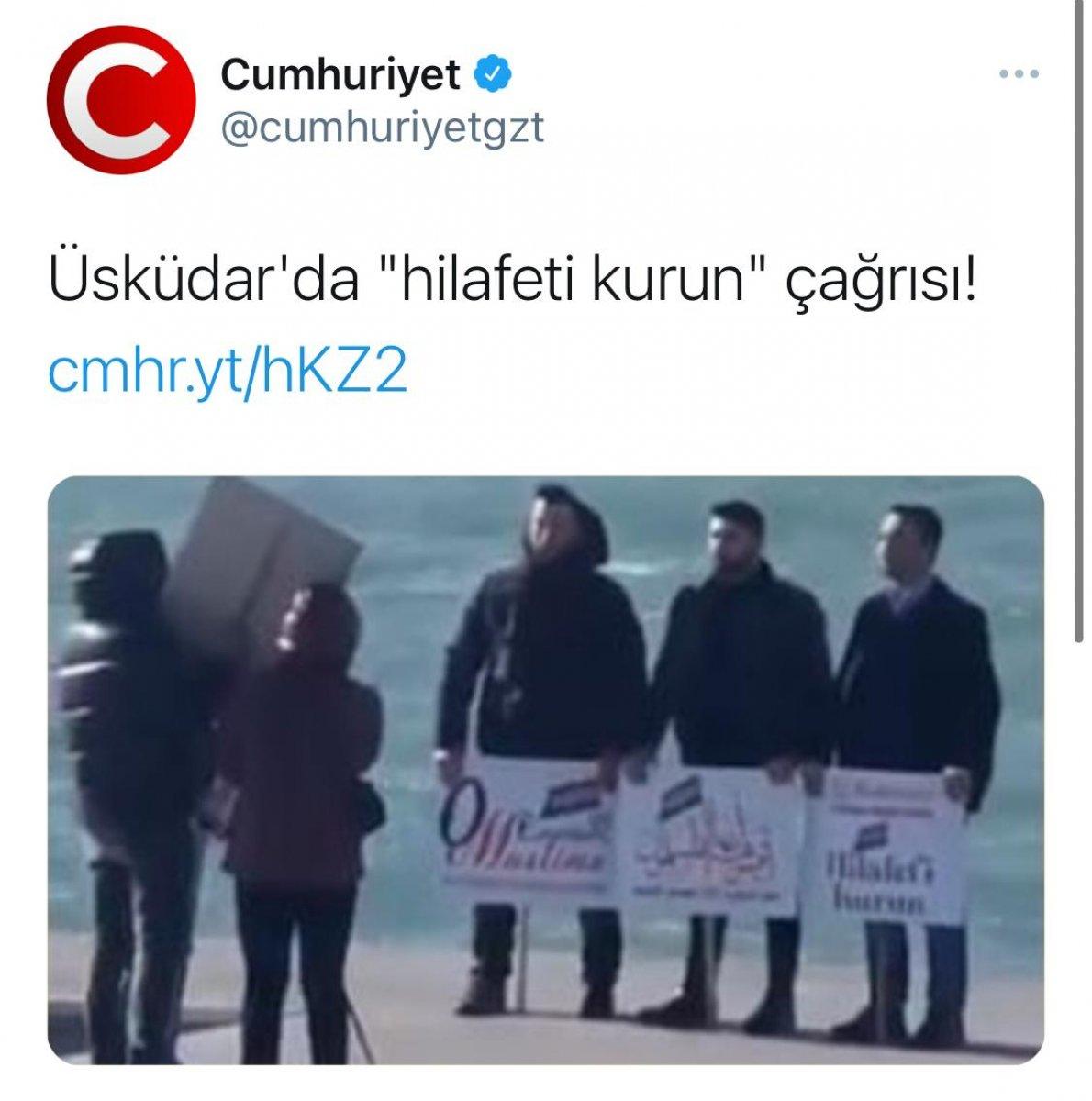Üsküdar daki görüntü Cumhuriyet gazetesini korkuttu #1