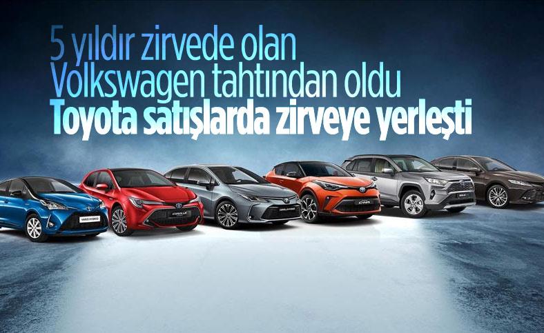 Toyota, Volkswagen'i geçerek en çok satış yapan marka oldu