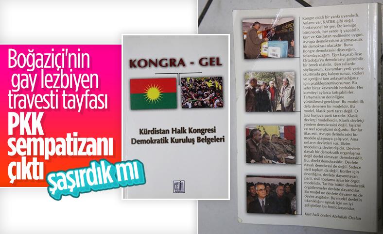 LGBT Kulüp Odası'nda PKK materyalleri