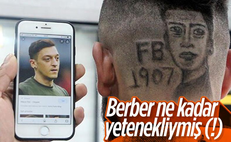 Mesut Özil'in portresini saçına kazıttı