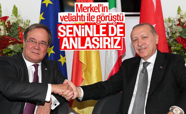 Cumhurbaşkanı Erdoğan, Armin Laschet ile görüştü