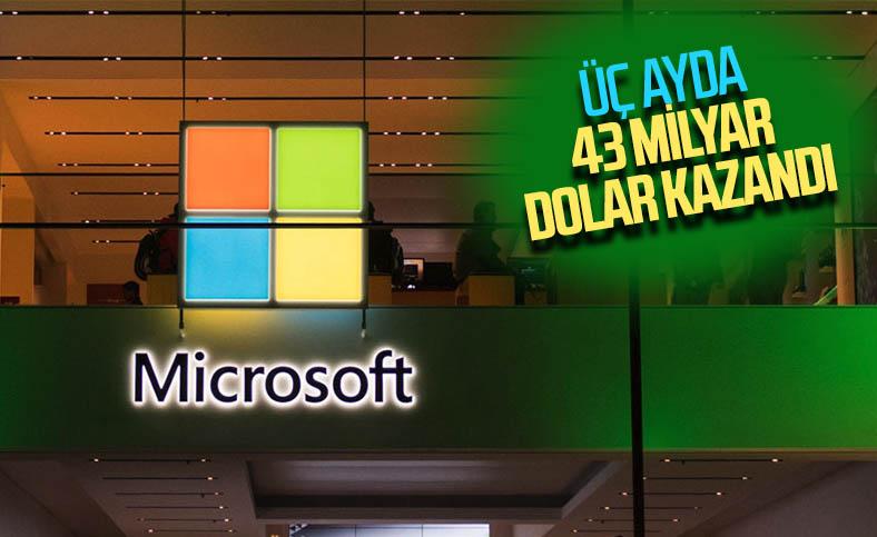 Microsoft, son çeyrekte 43 milyar dolar gelir elde etti