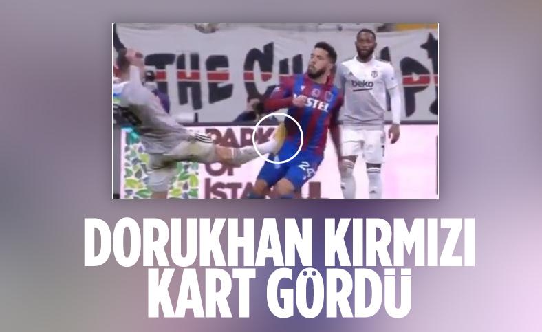 Beşiktaş'ta Dorukhan Toköz direkt kırmızı kart gördü