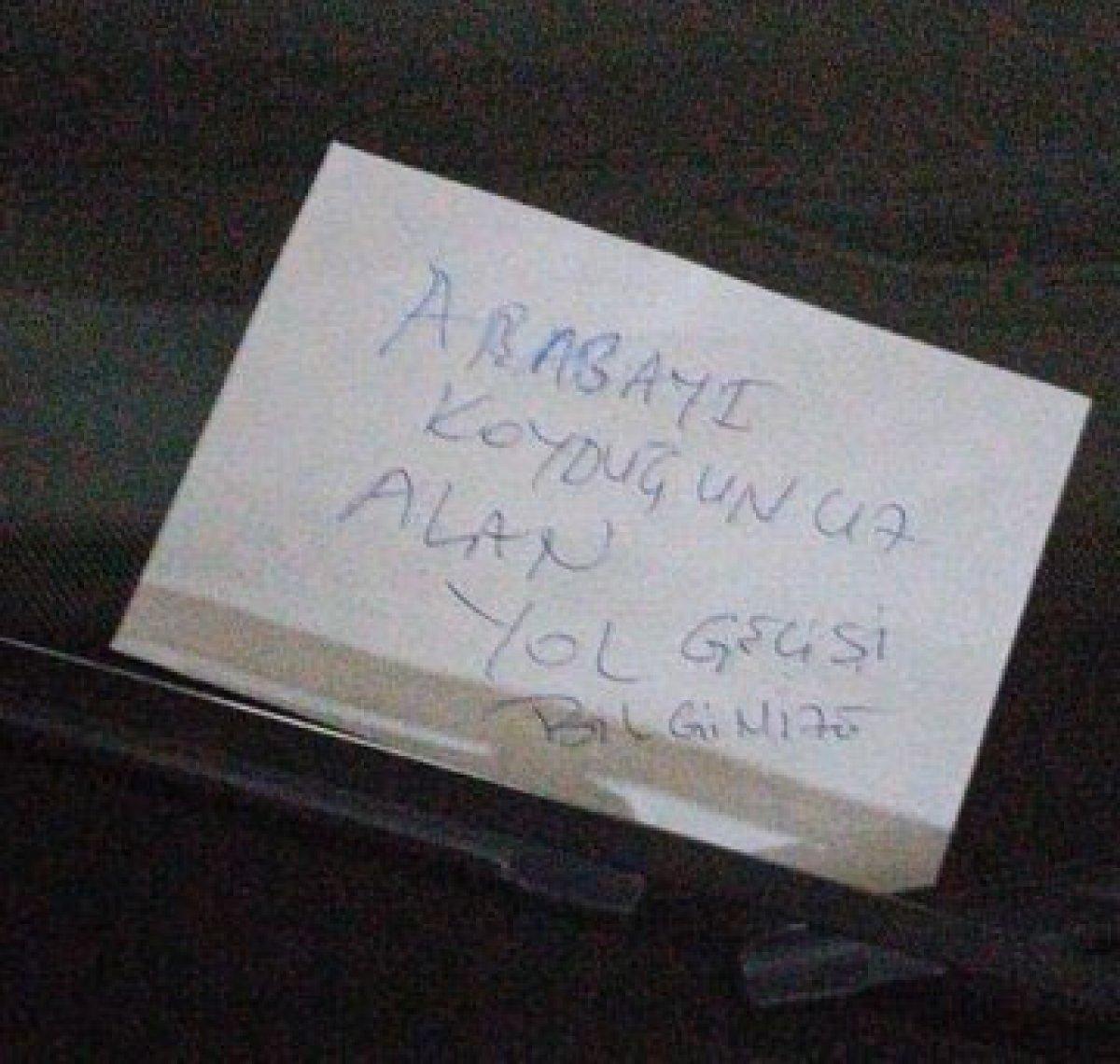 Ordu da savcı arabasına not bırakan kişiyi gözaltına aldırdı #1