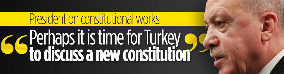 Turkish president opens new constitution up for discussion