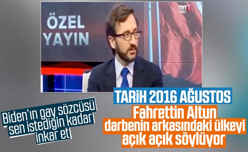 Fahrettin Altun'un darbe girişiminde ABD'yi işaret ettiği konuşma