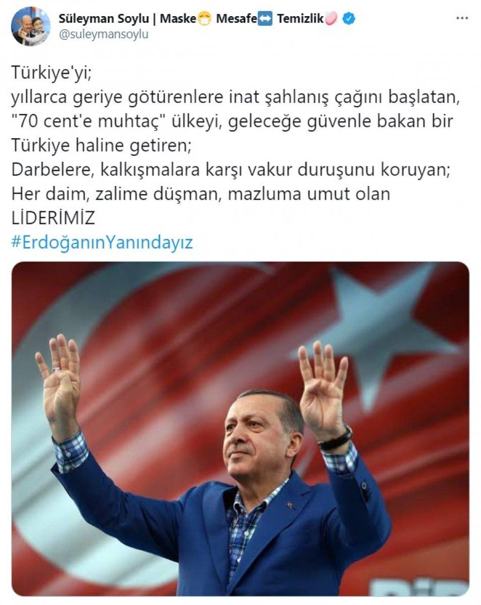 Cumhurbaşkanı Erdoğan a destek tweet leri 2 milyonu aştı #2