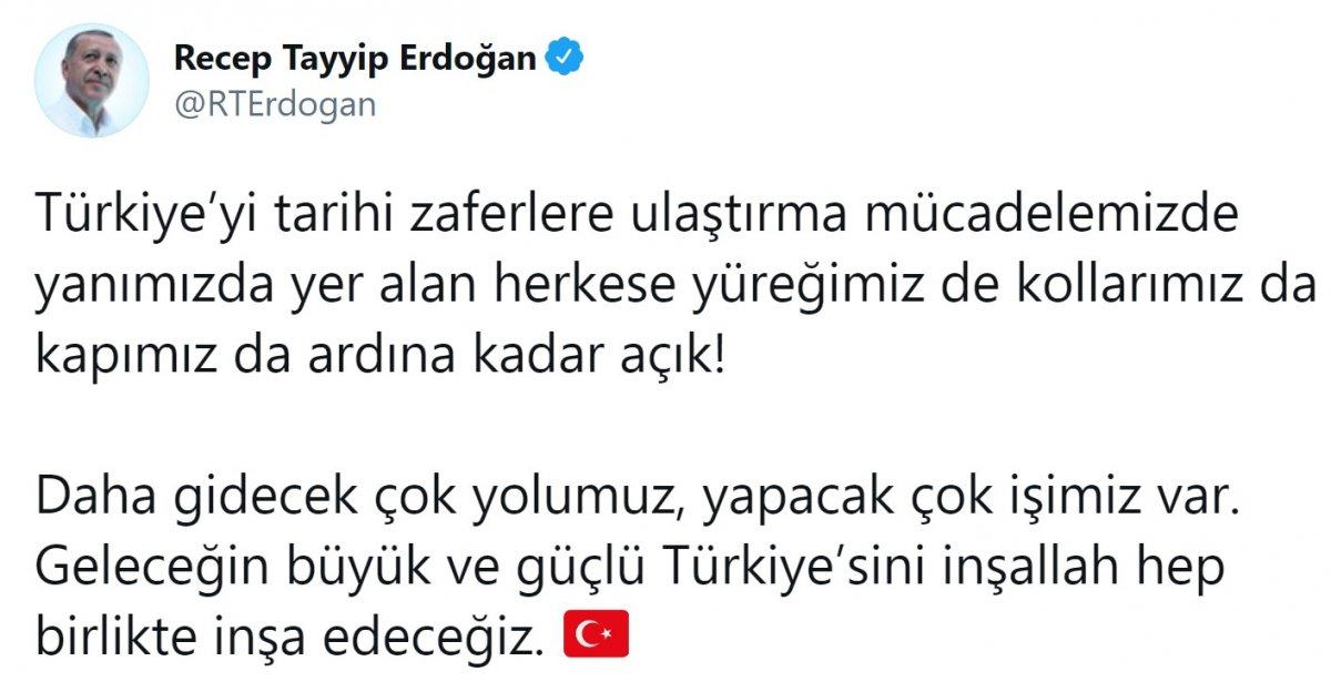 Cumhurbaşkanı Erdoğan a destek tweet leri 2 milyonu aştı #1