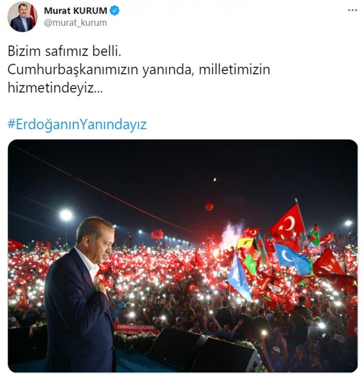 Cumhurbaşkanı Erdoğan a destek tweet leri 2 milyonu aştı #5