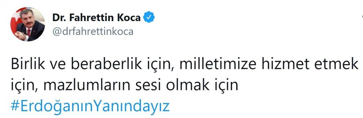 Cumhurbaşkanı Erdoğan a destek tweet leri 2 milyonu aştı #13