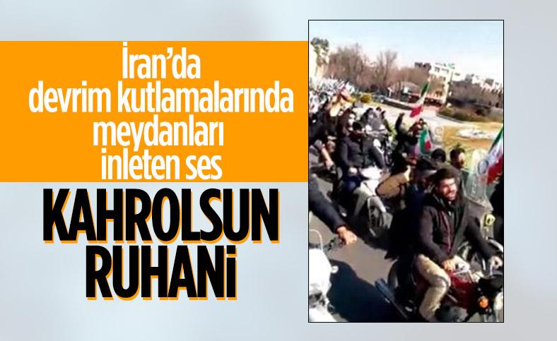 İran'da devrim kutlamalarında 'Kahrolsun Ruhani' sloganları atıldı