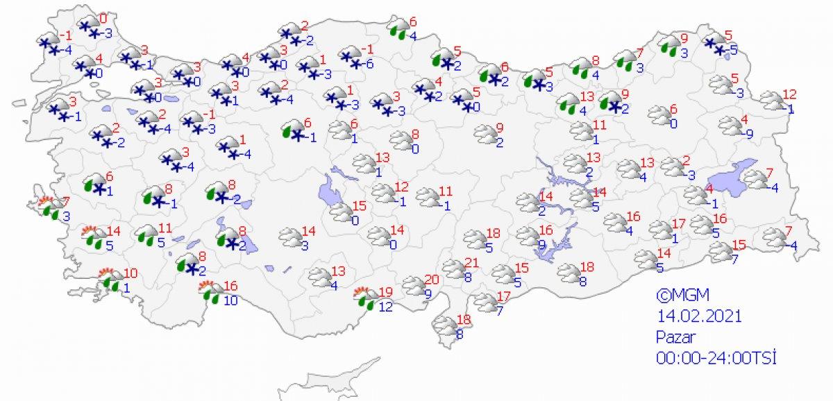 İstanbul a kar geliyor: Havalar 20 derece birden düşecek #5