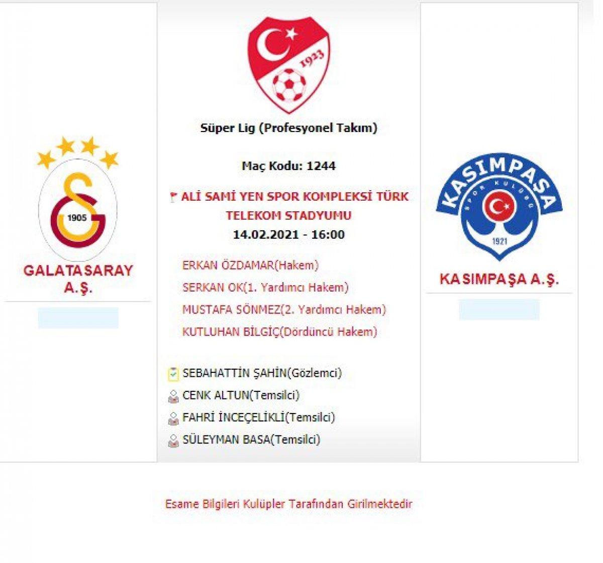 TFF, Galatasaray-Kasımpaşa, Gençlerbirliği-Beşiktaş maçlarının saatini değiştirdi #1