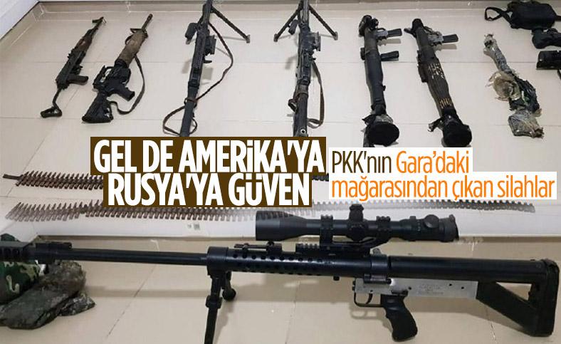 Gara'daki mağarada çok sayıda silah ve mühimmat bulundu