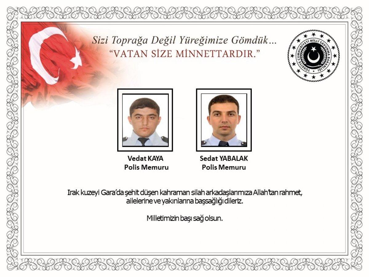 Milli Savunma Bakanlığı: Şehitlerimize Allah'tan rahmet dileriz #2