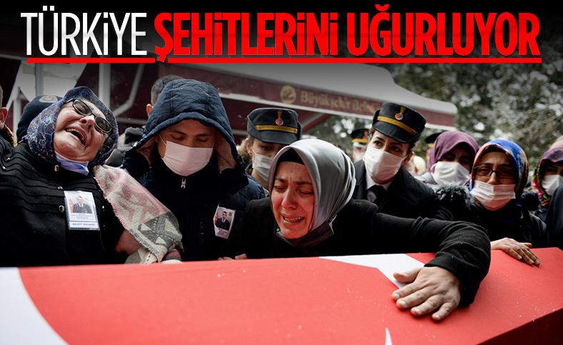 Türkiye yasta: Şehitlerimizi uğurluyoruz