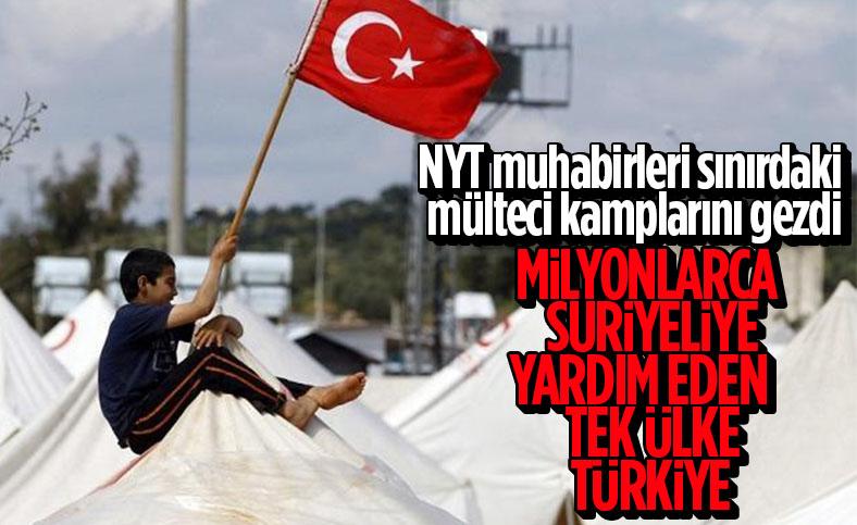 New York Times: Milyonlarca Suriyeliye yardım eden tek ülke Türkiye