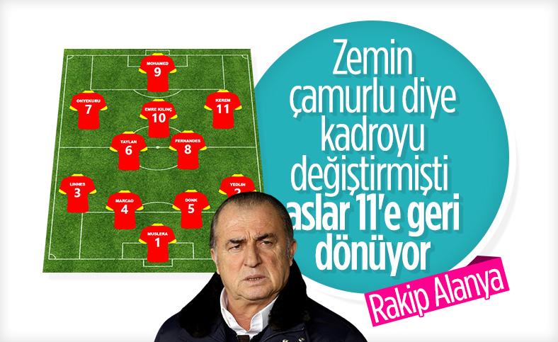 Galatasaray'da ilk 11 değişiyor