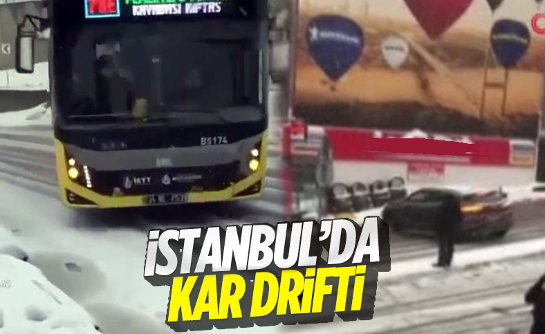 İstanbul'da kar yağışı, sürücülere zor anlar yaşattı
